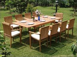 Hampton Bay Fall River 7 Piece Patio Dining Set - smith and hawken teak patio furniture 6944