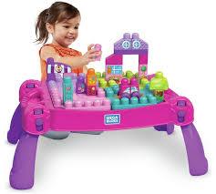 my first mega bloks table buy mega bloks build n learn table pink construction toys argos