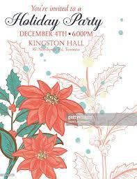 botanical christmas plants background party invitation vector art