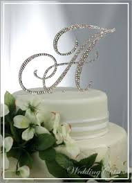 cake monograms cake flower bling the finishing touch