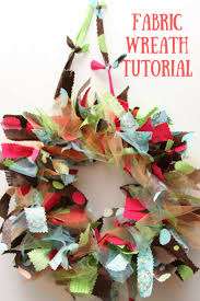 fabric wreath diy just short of crazy