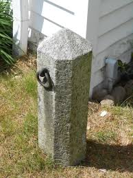 a 100 year granite hitching post always looks anywhere