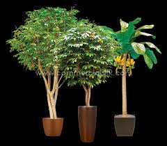 banana apple orange artificial fruit trees add colors to the