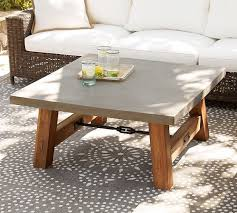 Concrete Coffee Table Abbott Concrete Square Coffee Table Pottery Barn