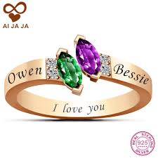 amethyst engagement ring custom by online get cheap engagement rings gold with name aliexpress com