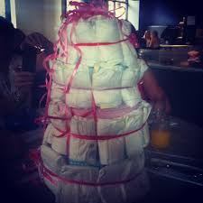 amazing baby shower idea u2013 a nappy cake littlepeagreen