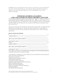 Georgia General Durable Power Of Attorney by Best Photos Of General Power Of Attorney Template Free General