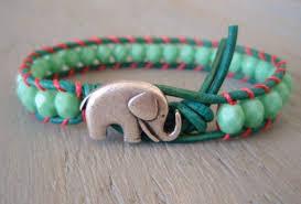 ebay silver bracelet charms images Jewels elephant animal animals green teal pink summer boho jpg