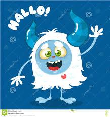 vector halloween background cute cartoon monster vector halloween bigfoot character waving