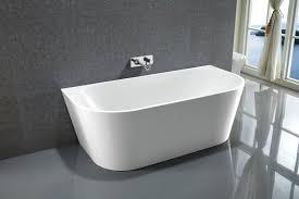 Acrylic Bathtub Le Rond Round Back To Wall Freestanding Acrylic Bath Tub