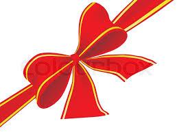 big ribbon big bow of ribbon vector illustration stock vector colourbox
