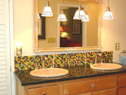 Backsplash Bathroom Ideas by 15 Best Bathroom Backsplashes Images On Pinterest Glass Tiles