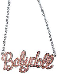 baby name plate necklace babydoll name plate necklace dolls kill