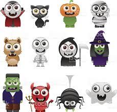 Free Halloween Vector Art Cartoon Halloween Characters Set Stock Vector Art 153080369 Istock