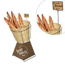bakery basket wicker basket display stand for bakery custom bakery displays
