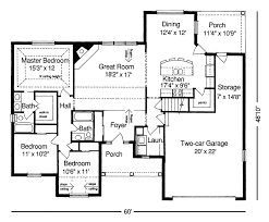 small ranch house floor plans floor plan of the house plan number 427 donald a