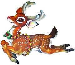 free vintage christmas reindeer clipart