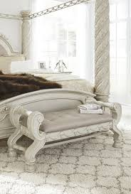 cassimore pearl silver large uph bedroom bench b750 09