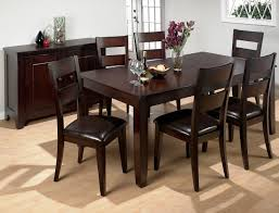 Wooden Kitchen Table by Dining Room Awesome Dark Costco Dining Table With Height