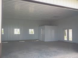 Barn Garage Pole Barn Finished With Metal Liner Kit Loudon Construction