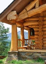 Hamill Creek Timber Homes Sugarloaf Log Cabin Front Porch Truss Queen Post Style Looks Like