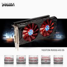 ordinateur de bureau jeux yeston radeon rx 550 gpu 4 gb gddr5 128 bits jeux d ordinateur de
