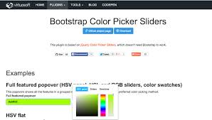 Plugins For Bootstrap To Extend Its Possibilities Netstudy Web Page Color Picker