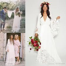 hippie wedding dresses discount 2017 boho wedding dresses bohemian bell sleeve