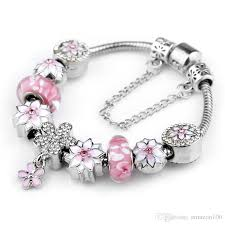 murano bead bracelet images 2017 925 sterling silver pink murano glass beads silver fit jpg
