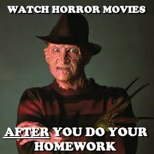 Freddy Krueger Meme - it s funny cause i am actually in the middle of getting my homework
