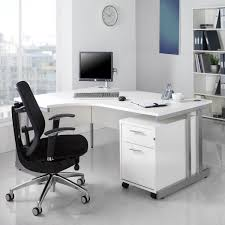 Office Desk Black by Funiture White Office Furniture Ideas Using L Shape White Painted