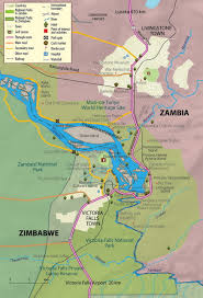 Map Of Zambia Zambia And Zimbabwe Victoria Falls Map Places Africa Eastern