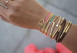 stackable bracelets diy gold bracelets