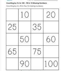 Counting By Tens Worksheets For Kindergarten Counting By 5s To 100 A Wellspring Of Worksheets