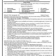 cover letter sample resume for warehouse manager sample resume for