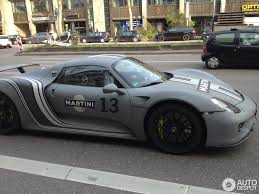 rwb porsche grey porsche 918 spyder with grayscale martini livery feels timeless