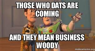 Toys Story Meme - who dat buzz and woody toy story meme those who dats are coming