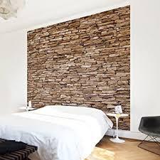 steinwand wohnzimmer baumarkt fototapete steintapete crete stonewall vliestapete premium