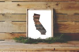 california printable ca state print california wood wall