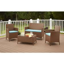 Modular Wicker Patio Furniture - cosco dorel industries outdoor jamaica 4pc resin wicker complete
