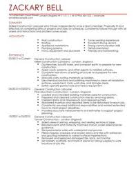 Livecareer Resume Examples by Construction Cv Examples Cv Templates Livecareer