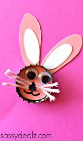 Holiday Crafts For Preschoolers - bottle cap easter crafts for kids u0026 bunny crafty morning