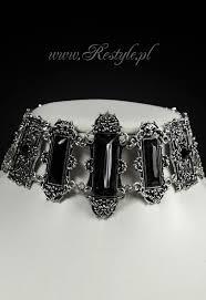 victorian necklace black images Vivian black quot choker gothic victorian necklace rectangle stones jpg
