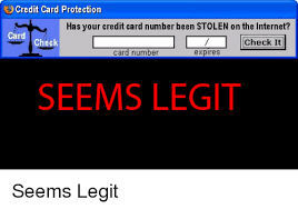 Credit Card Meme - credit card protection has your credit card number been stolen on
