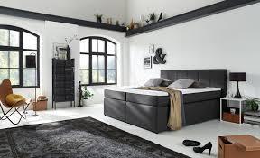Komplettes Schlafzimmer Auf Ratenzahlung Sam Boxspringbett Hotelbett 180 X 200 Cm Stoffbezug Grau Sassari