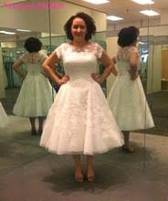 compare prices on vintage wedding dress tea length online