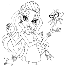 monster high coloring pages wydowna spider google search