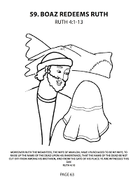 boaz and ruth coloring pages coloring home