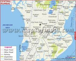 map central mumbai city map