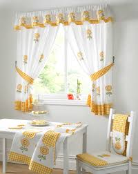 Curtain For Kitchen Designs Curtain Yellow And Gray Kitchen Curtains Kitchen Swag